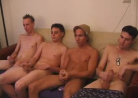 Four Boys Jerking Off