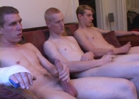 Three Boys Taste Cock