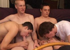 Five Amateurs Gay Sex Orgy