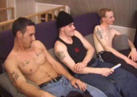 Three Horny Boys Suck Dick