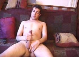 Shy Boy Luis Jerks Off