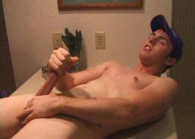 Christian Dane Stroking Cock