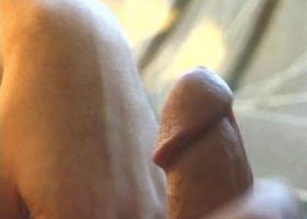Tony Strokes His Stiff Dick