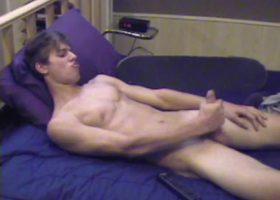 Jayden Strokes His Cock