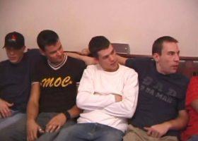 Eight Boys Stroking Cock