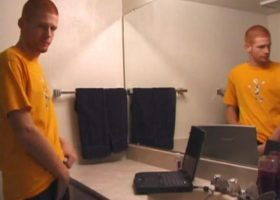 Tristian Bathroom Stroking