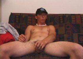 Trevor Stroking Stiff Cock