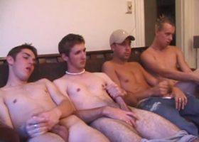 Horny Boys Circle Jerking