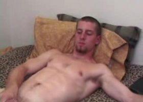 Adam Strokes With Sex Toy