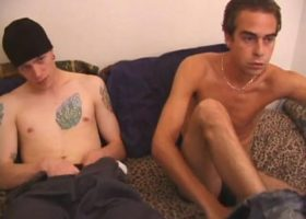 Straight Boys Shane and Vincenzo Stroking