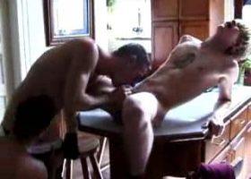 3 Boys Fuck In The Bathroom
