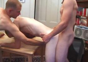 4 Boys Table Top Sex Orgy