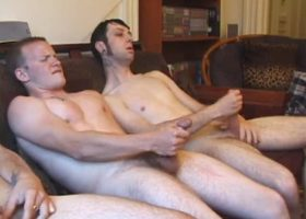 Bi and Straight Gay Threesome