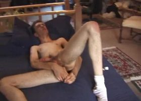 Damon Beats Off With Sex Toy