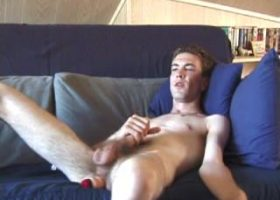 Damon Jacks Off With Sex Toy