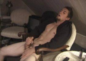 Adam Strokes His Cock