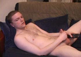 Young Axel Strokes His Meat