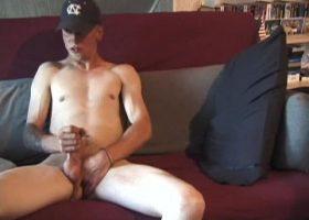 Amateur Brandon Stroking Cock