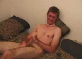 Michael Jacking Off With Dildo