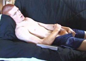 Tristan Stroking His Cock