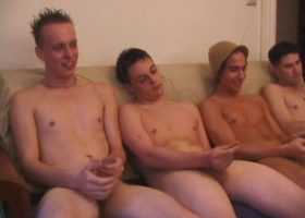 Four Boys Beating Their Meat