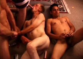 4 Boy Gay Sex Orgy
