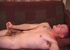 Amateur Lex Licks His Stiff Cock
