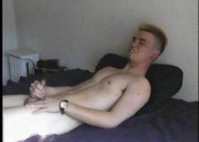 Isao Stroking His Stiff Cock