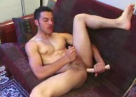 Adrian Beats Off With Sex Toy