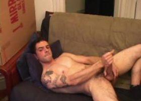 Jesse Strokes His Stiff Dick