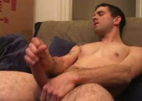 Jesse Strokes His Stiff Dick