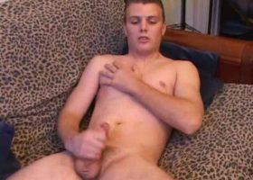 Amateur Phil Stroking His Cock