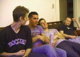 Four Boys Stroke and Suck