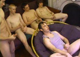 Five Amateurs Gay Sex Orgy