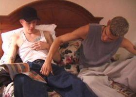 Straight Boy Shane Gets Gay Blowjob
