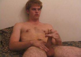 Tre Bone Strokes His Cock