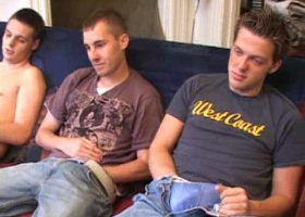 Kiefer, Gunner and Casey Suck Cock