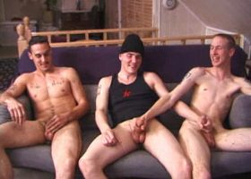Three Horny Boys Suck Dick