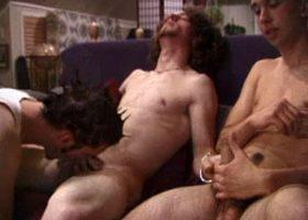 Three Boys Have A Sex Orgy