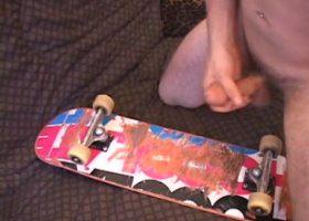 Skater Boy Lucky Jerks Off