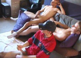 Three Boys Sucking Cock