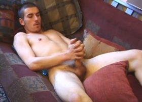 Sebastian Strokes His Cock