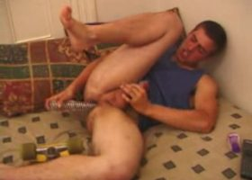 Mica Jerks Off With Dildo